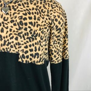 PINK Victoria's Secret Tops - Pink VS Leopard Print Long Sleeve T